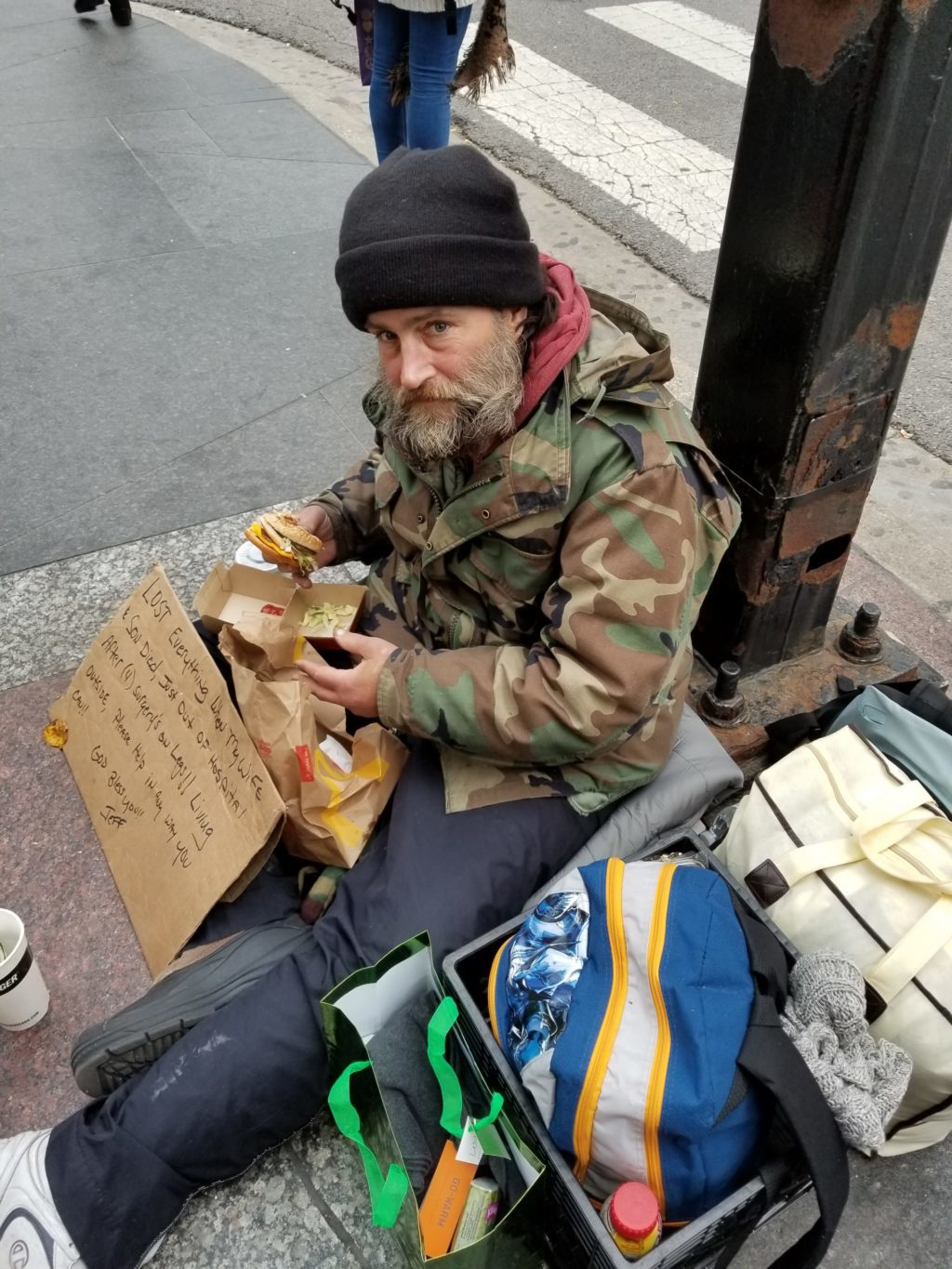 Giving in hard times